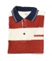 Mobile Preview: Henry Jerry Poloshirt rot/weiß gestreift